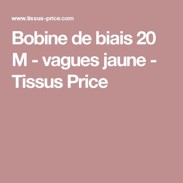Bobine de biais 20 M - vagues jaune - Tissus Price