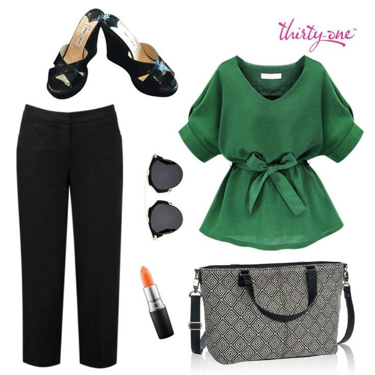 Professional or interview ready with Thirty-One and this Miles of Style purse! www.thebagdealer.com