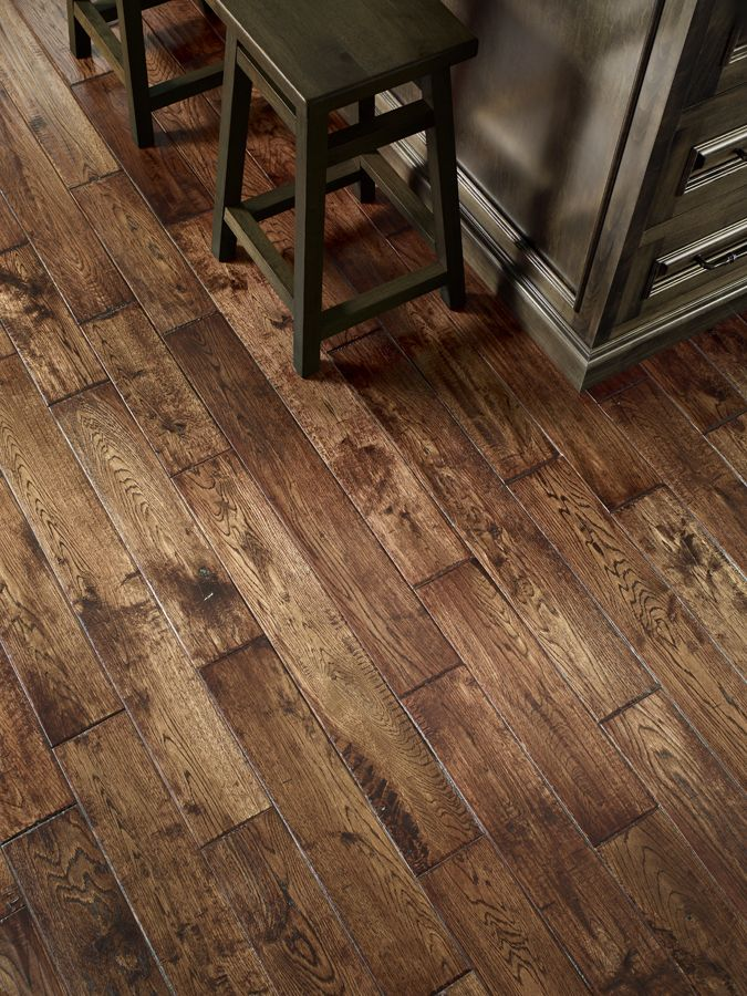 Oak Distressed Hardwood Flooring.