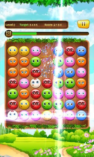 A very classic bubble puzzle game with amazing gameplay! Swapping the lovely cartoon bubbles, fight for higher scores in given time, try to make more combos! Play this exciting and addictive Bubble Combos! Have Fun!!!How to play: 1. Match three or more same bubbles. 2. Achieve the target points to level up.Features:  - 120 challenging levels. - 3 game modes. - Many game props. - Lovely UI and cool animation effects.Tags: Fruits Swap, Jewels Swap, Casual and G...