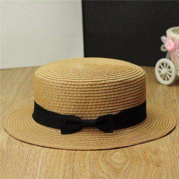 High-quality Women Ladies Fedora Hat Trilby Bowknot Straw Panama Summer Jazz Beach Sun Cap - NewChic