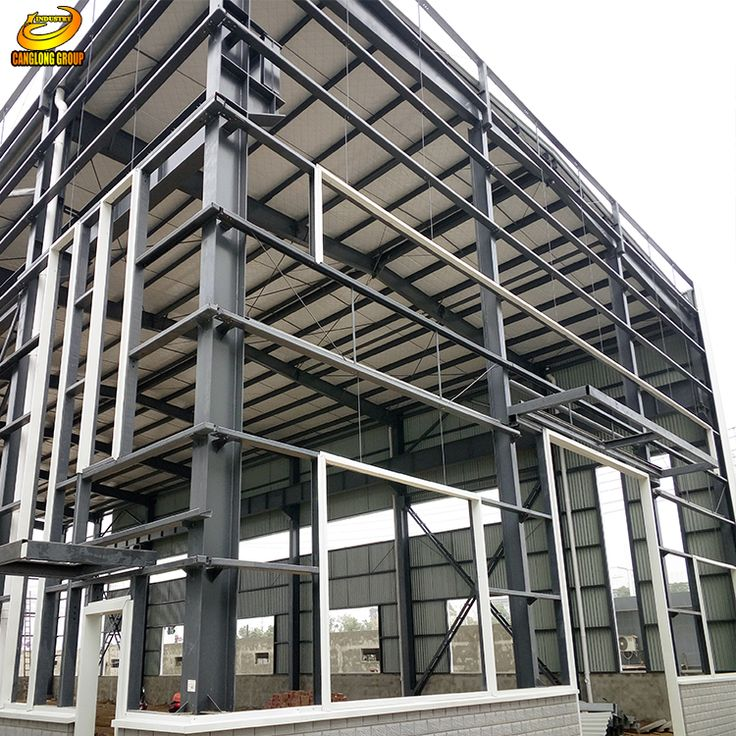 Low price industrial space frame steel structure building warehouse