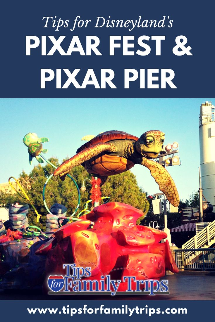 Planning a trip to Disneyland? Pixar Fest and Pixar Pier are new in 2018. Read this post to find out the difference between Pixar Fest and Pixar Pier, and when both will open in Disneyland and Disney\'s California Adventure this year! | tipsforfamilytrips.com | summer vacation ideas | family travel #travel #Disneyland #PixarPier #PixarFest #California