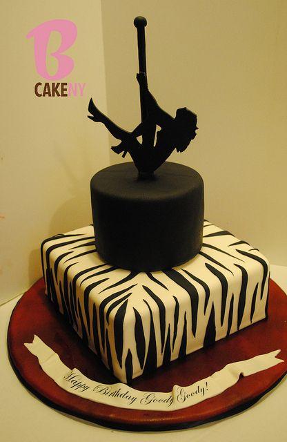 Pole dancing birthday cake!  Girls night out cake!