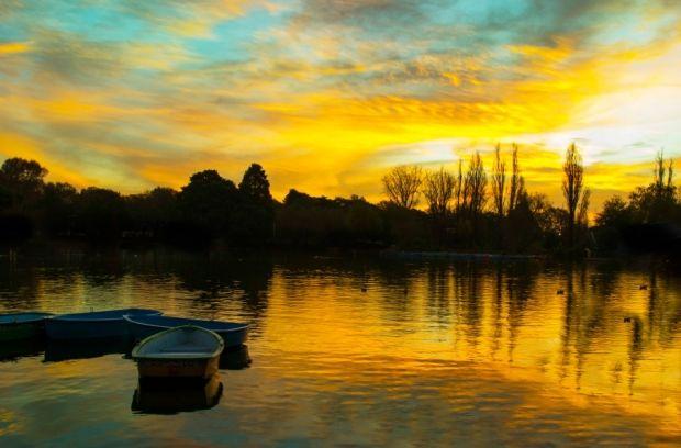 Sunset at Zoo Lake #VisitGauteng #blue #gold #sunset http://www.gauteng.net/attractions/entry/zoo_lake/