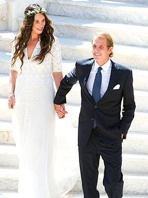 Tatiana Santo Domingo and Andrea Casiraghi wedding photo