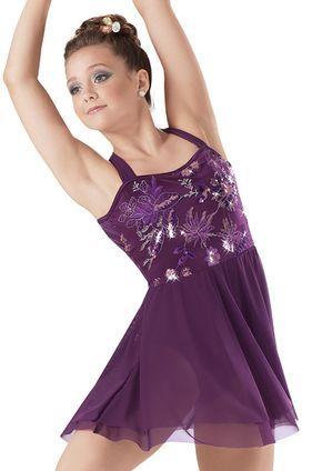 Weissman™ | Sequin Satin Floral Tiered Dress