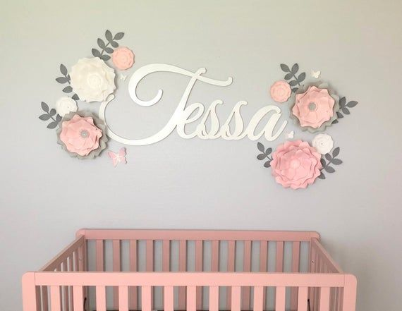 Eight Paper Flowers For Wall Decor