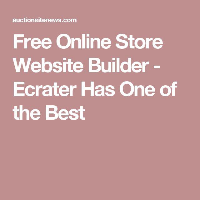 Free Online Store Website Builder - Ecrater Has One of the Best