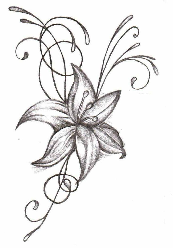 легкие рисунки цветов поднятие