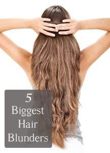 The 5 Biggest Hair Blunders