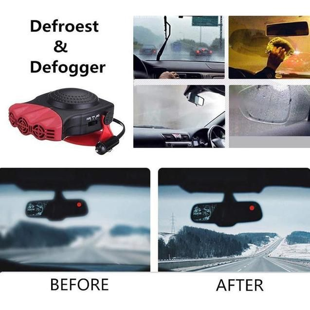Defrost And Defog Car Heater Double Sided Adhesive Heater Defogger