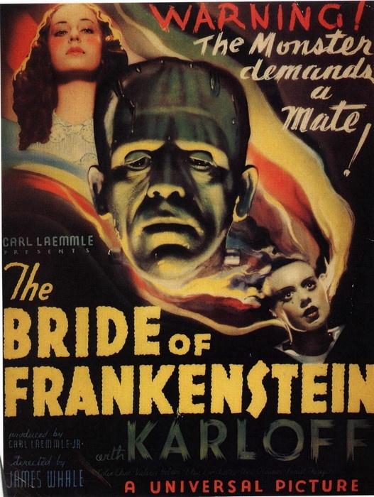 vintage movie poster: bride of frankenstein 1935 | Vintage ...