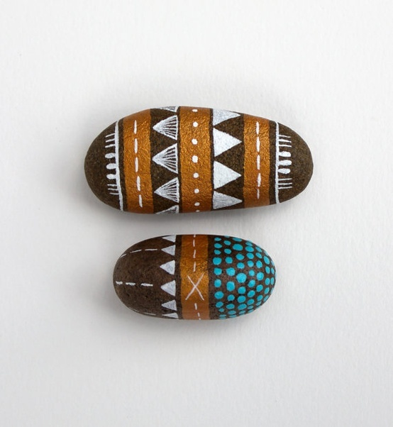 Painted Stones by RiverLuna on @Etsy