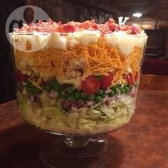Rezeptbild: Schichtsalat in 7 Lagen