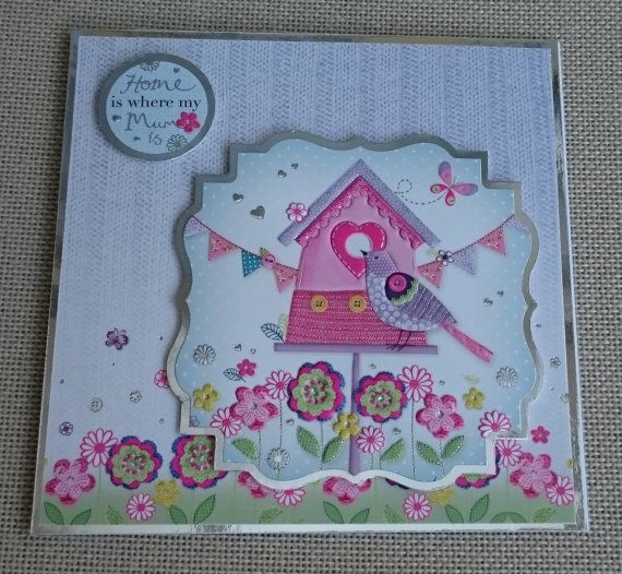 Handmade 6 x 6 Square Greeting Card  Home Is Where by BavsCrafts
