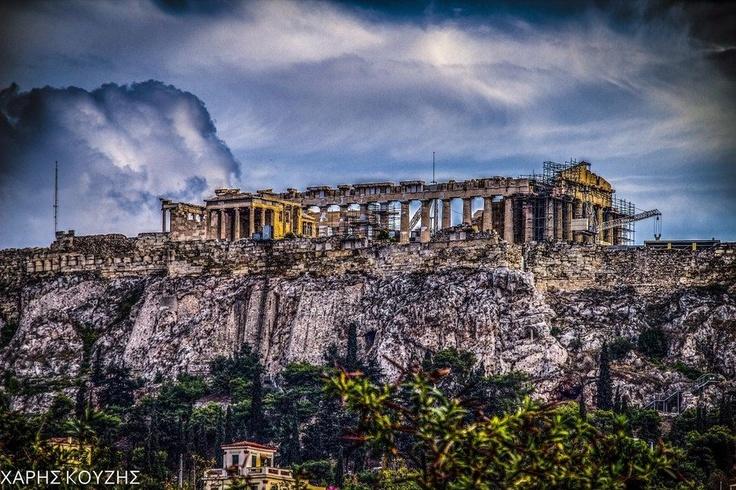 El Partenón en la Acrópolis. #Atenas. #Grecia.
