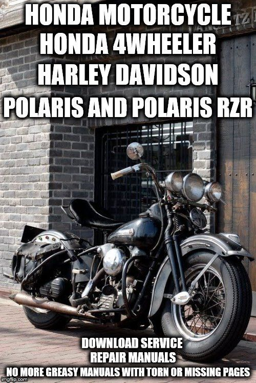 407 best repair manuals save and just fix it yourself images download honda polaris harley davidson service repair manuals fandeluxe Images