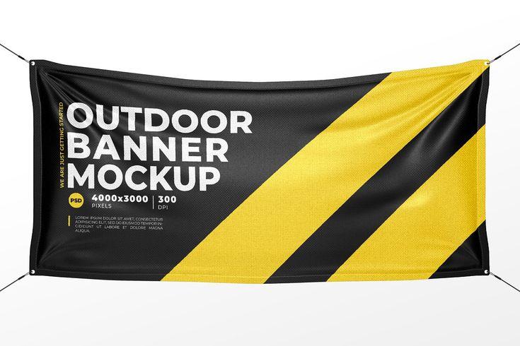 Outdoor Vinyl Banner Mock Up Outdoor Vinyl Banners Vinyl Banners Banner Template Design
