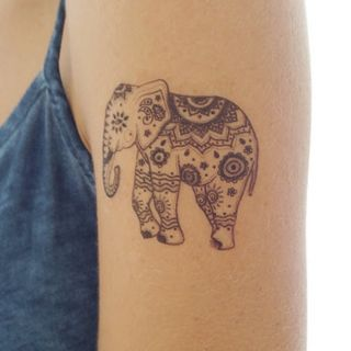 Elephant tattoos are popular among persons who readily conne... | Cute girl tattoos | Bloglovin'