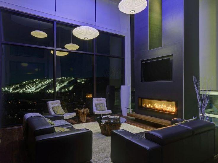 Luxus hegyi villa 2,3 millió dollárért,  #bár #billiárd #bőr #dekoráció #design #étkéző #fa #fürdő #hálószoba #hegy #hobbiszoba #interior #kandalló #kert #kő #konyha #lépcső #medence #mosdó #nappali #üveg #világítás #zöld, http://www.otthon24.hu/luxus-hegyi-villa-23-millio-dollarert/