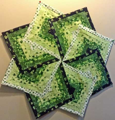Irish Star Table Topper  a reminder on technique the next time I want to make this!