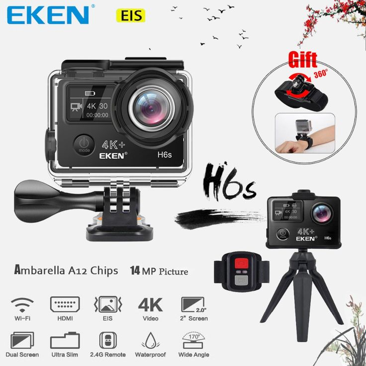 Best price US $89.22  EKEN H6s 4K+ Utral HD 14MP with EIS Remote Sport Camcorder Ambarella A12 Chip Wifi 30m Waterproof Panasonic Sensor Action Camera  #EKEN #Utral #with #Remote #Sport #Camcorder #Ambarella #Chip #Wifi #Waterproof #Panasonic #Sensor #Action #Camera  #freeshipping  Check Discount and coupon :  8%