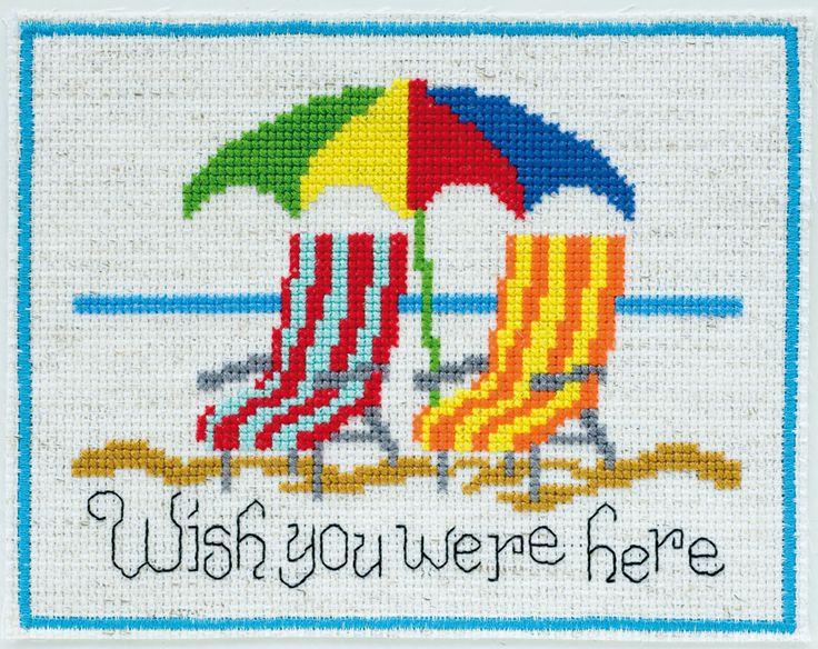 wish you were here free cross stitch chart                                                                                                                                                      More