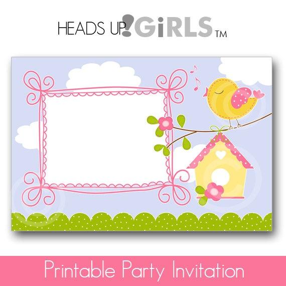 Personalized Whimsical Bird Baby Girl Shower by HeadsUpGirlsBaby, $12.00