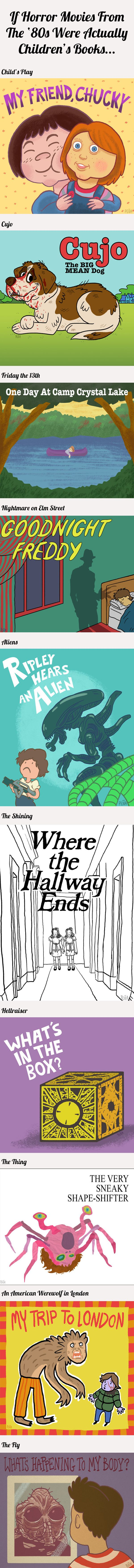 If horror movies from the '80s were actually children's books… | B for Bel