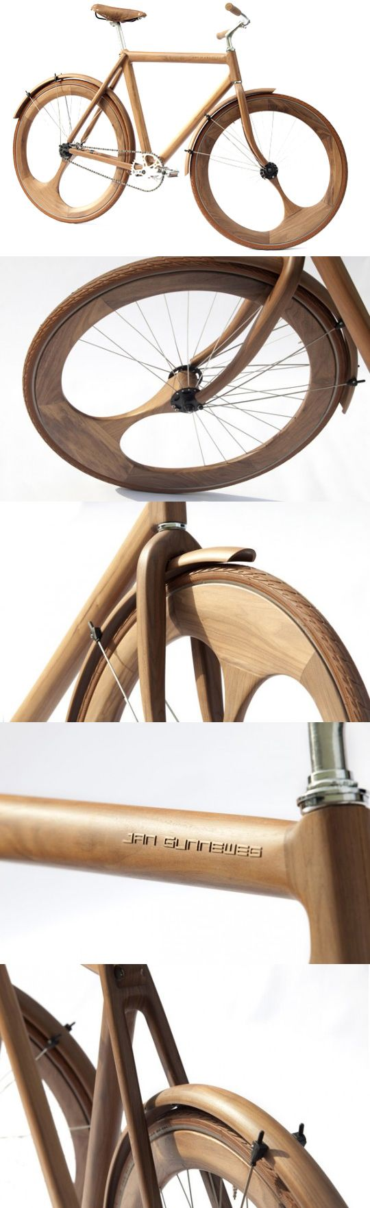 #wood #bike Jan Gunneweg Wooden Bike - Bom exemplo do uso da madeira para…