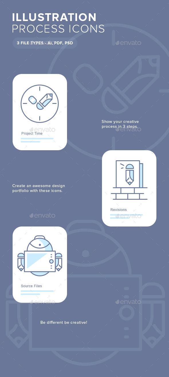 Illustration Process Icons