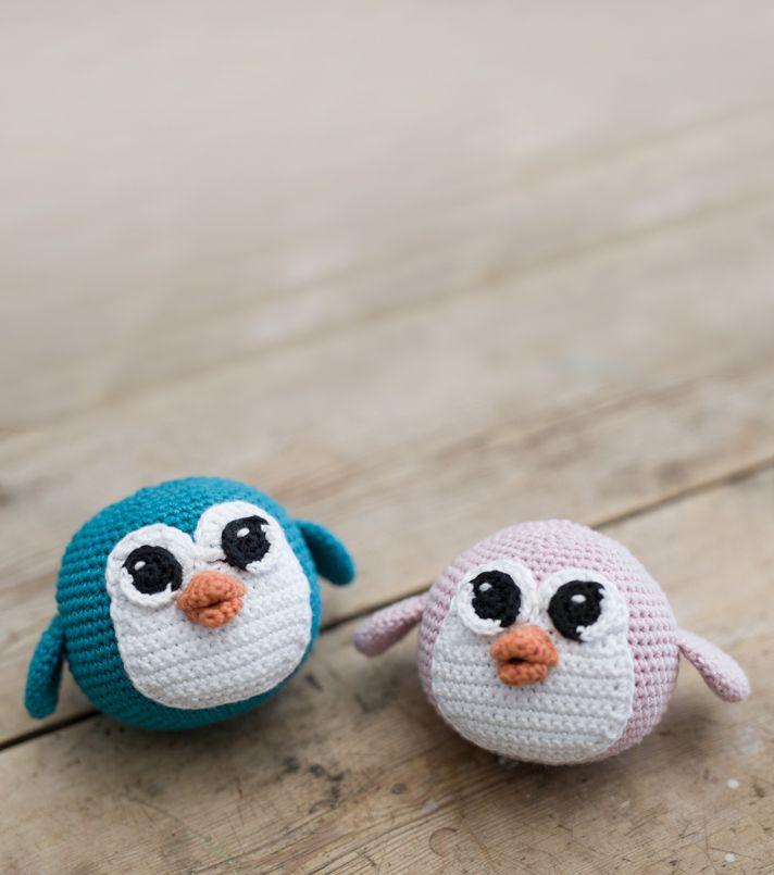 DIY : Penguin with free crochet pattern. By www.ojhæklerier and Søstrene Grene