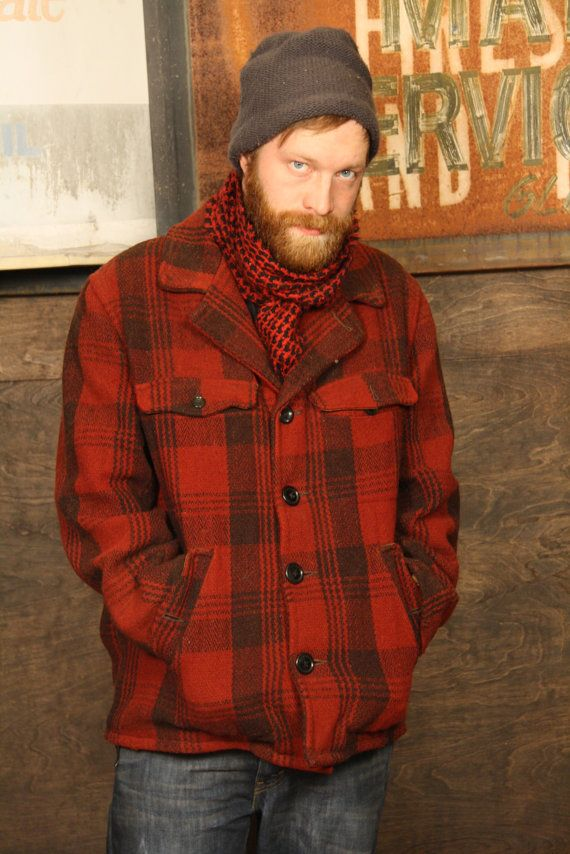 Every one in my house has a red plaid coat.  Okay, this guy's hot.