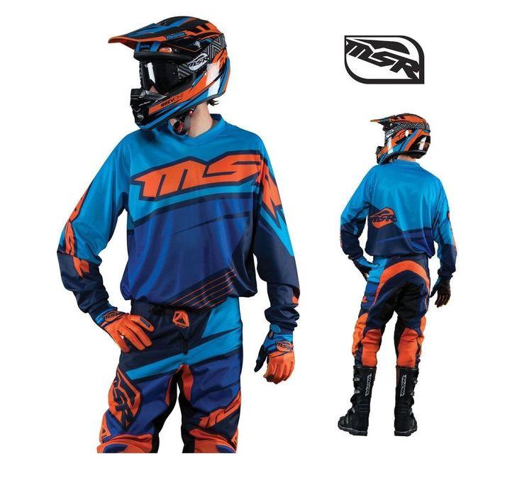2015 MSR RACING AXXIS KTM ORANGE BLUE MX JERSEY PANT 2-3 PC COMBO GEAR MOTOCROSS #MSRRacing #RidingGearcombo #KTM #mx #SX