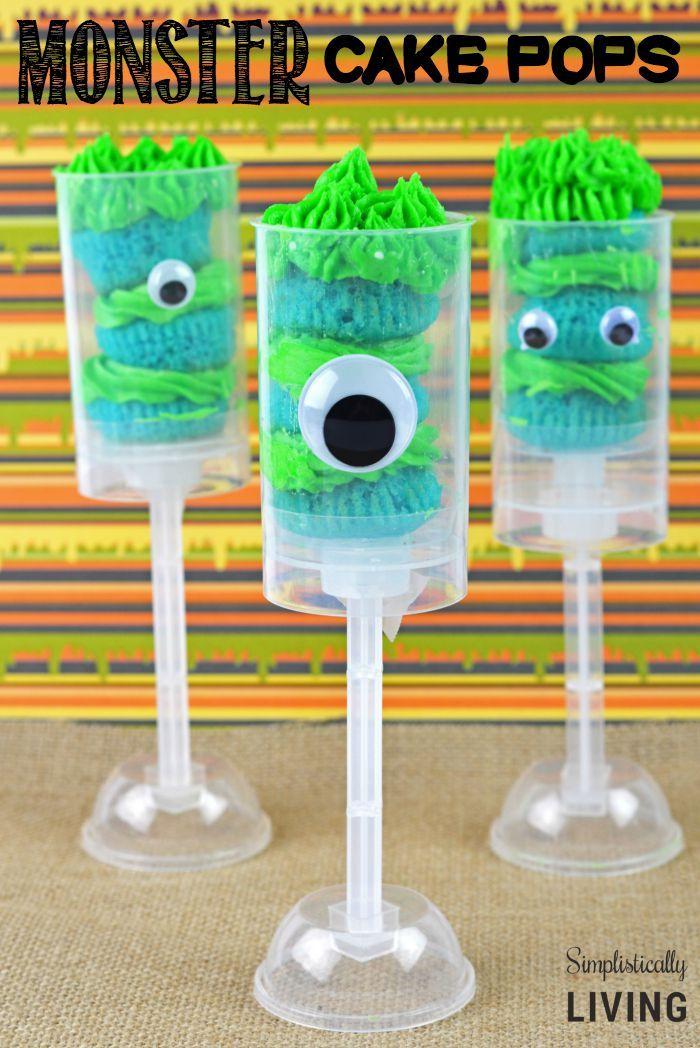 Monster Cake Pops Simplistically Living