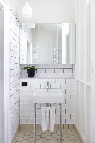 Railway tiles and Grey grout- A must have in my flat space one day