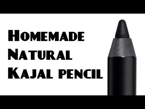Homemade Natural kajal pencil ♡ Must watch