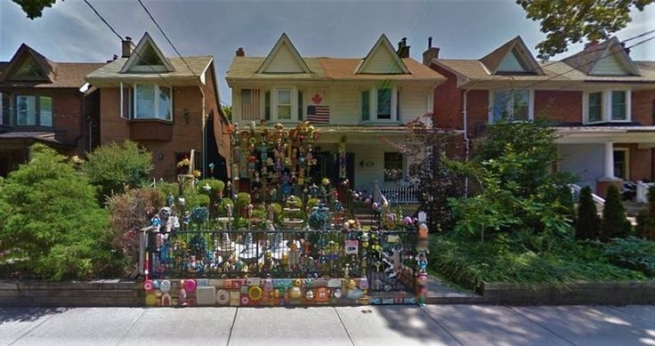 Crazy Doll House, 37 Bertmount Ave, Toronto, ON This Toronto garden collects stares and tchotchkes in equal measure.