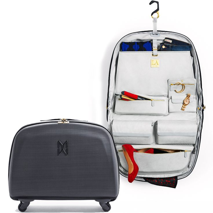 This Luxury Carry On Suitcase With Zip Out Tote Is Your Complete Mobile  Wardrobe, Elegant And Organized. Like Having LA Custom Closets On The Road.