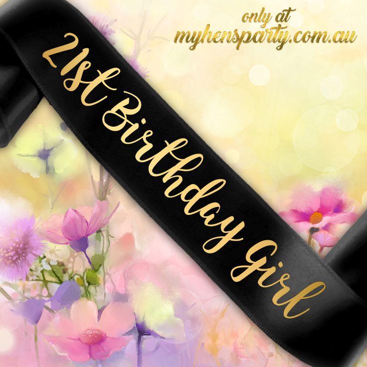 21st Birthday Girl Sash