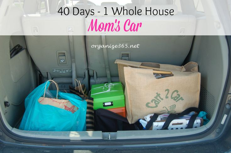 40 Days ~ 1 Whole House Day 23 - Mom's Car | Organize 365