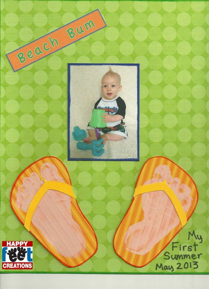 Summer art project for kids or toddlers. Feet / hand art projects