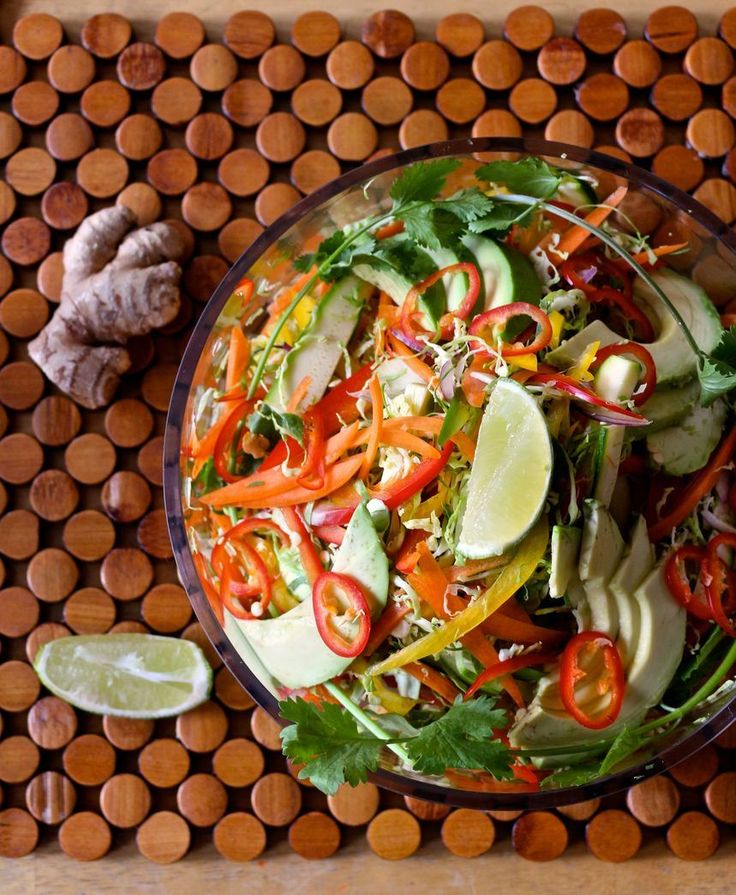 Shaved Brussels Pad Thai Salad - Naked Cuisine