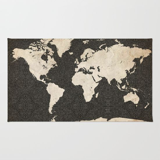 Buy Area & Throw Rugs with design featuring World Map - Ink lines by Map Map Maps and adorn your home with both style and comfort. Available in three sizes (2' x 3', 3' x 5', 4' x 6').
