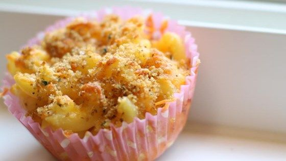 This takes a fun approach to the traditional mac and cheese recipe. Kids can eat it like a muffin and with their hands, making it a new mac and cheese experience!