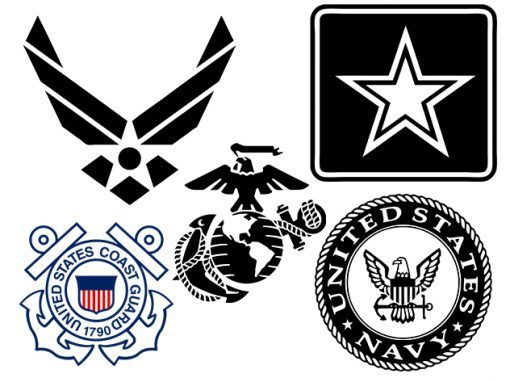 Military Logos Vector - Army, Navy, Air Force, Marines, Coast Guard