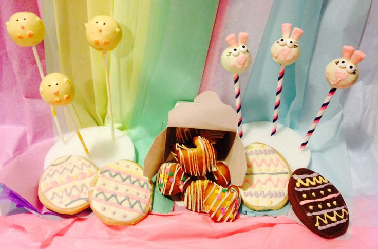 Easter Treats! Bunny & Chickie Cake Pops.  Gourmet Fortune Cookies.
