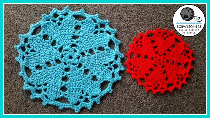 Crochet Doily Heart Valentines Tutorial (YouTube - bobwilson123)