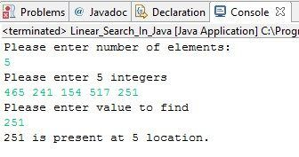 Hey!! Guys, how are you doing..... today you will learn linear search in java. Let us see what linear search in java means?? Basically linear search in java
